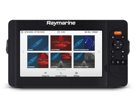Raymarine Element 9HV with HV100 transom mount transducer
